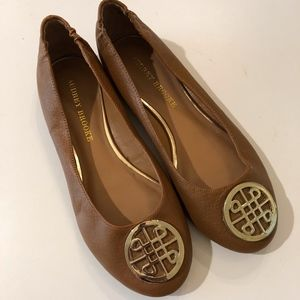 Audrey Brooke Leather Flats